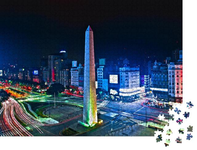 """Puzzle 1000 Teile """"Buenos-Aires Stadt Nacht hohe difinition"""""""