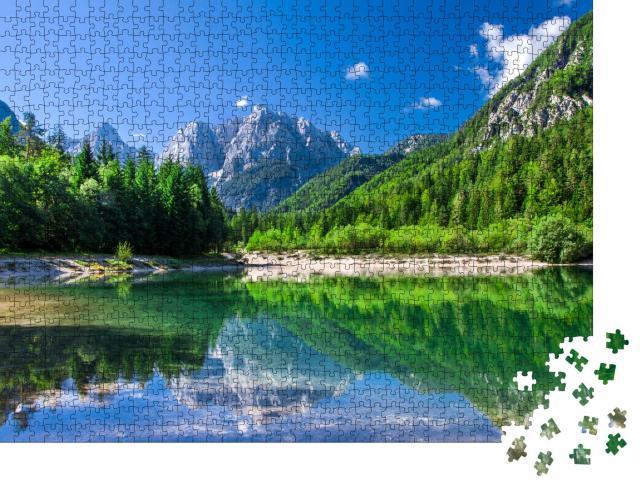 """Puzzle 1000 Teile """"Triglav-Nationalpark, Julische Alpen, Slowenien"""""""