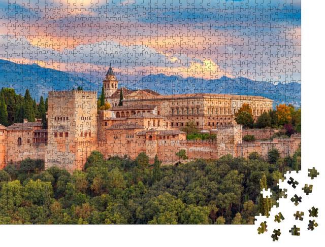 """Puzzle 1000 Teile """"Majestätische Festung und Palastanlage Alhambra, Granada, Spanien"""""""