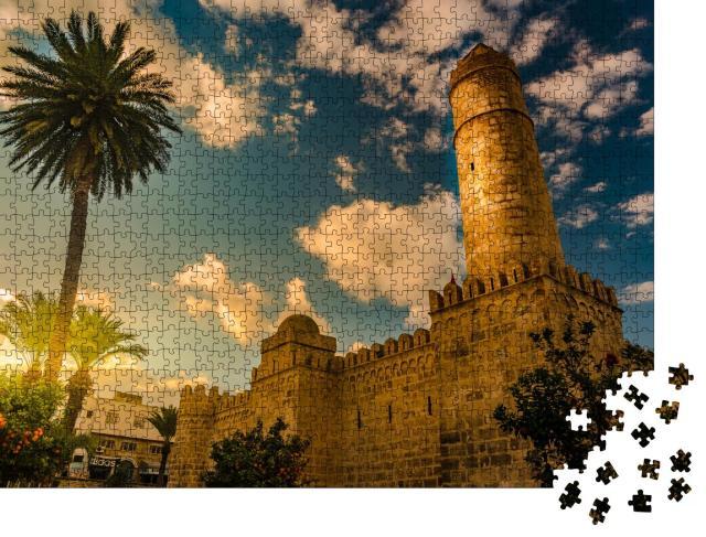 """Puzzle 1000 Teile """"Blick von den Mauern der Festung von Ribat von Sousse in Tunesien"""""""