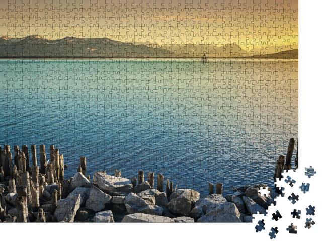 """Puzzle 1000 Teile """"Impression von Bodensee und Alpen"""""""