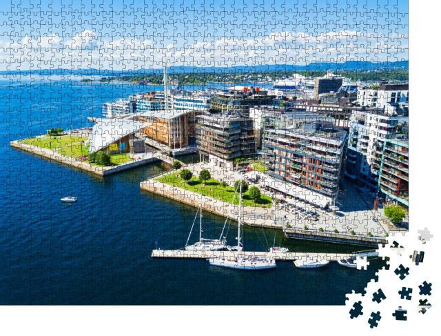 "Puzzle 1000 Teile ""Osloer Hafen: Stadtteil Aker Brygge, Oslo, Norwegen"""