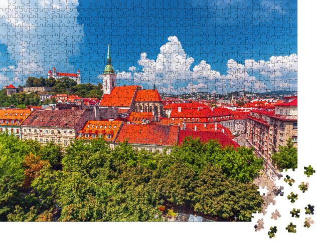 """Puzzle 1000 Teile """"Blick über die Altstadt von Bratislava, Slowakei"""""""