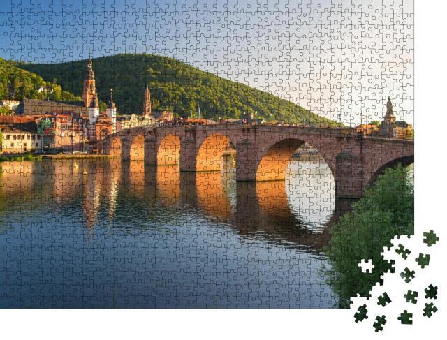 """Puzzle 1000 Teile """"Alte Brücke von Heidelberg über den Neckar, Baden-Württemberg"""""""