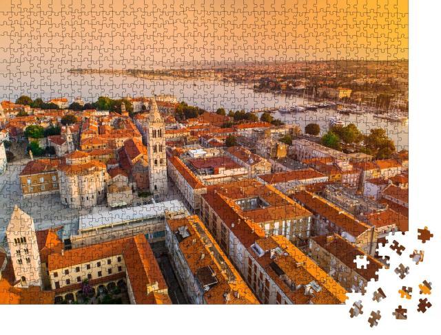 """Puzzle 1000 Teile """"Historisches Zentrum der kroatischen Stadt Zadar am Mittelmeer"""""""