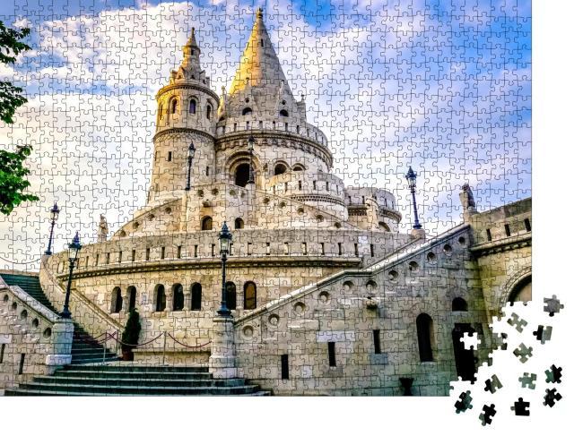 """Puzzle 1000 Teile """"Beeindruckende Fischerbastei in Budapest, Ungarn"""""""