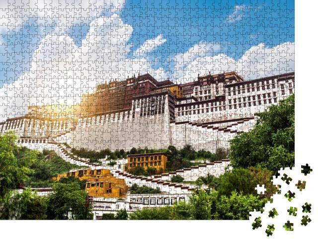 """Puzzle 1000 Teile """"China Tibet Lhasa Potala-Palast, ehemalige Residenz des Dalai Lama"""""""