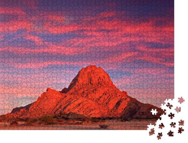 """Puzzle 1000 Teile """"Abendlicht an der Spitzkoppe, schöner Hügel in Namibia"""""""
