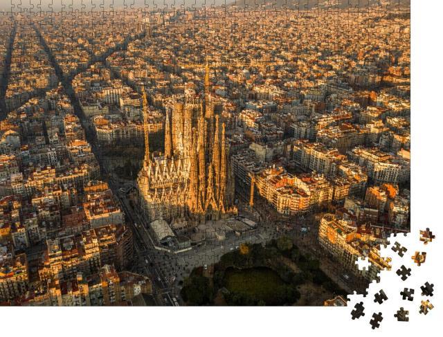 """Puzzle 1000 Teile """"Barcelona aus der Vogelperspektive"""""""