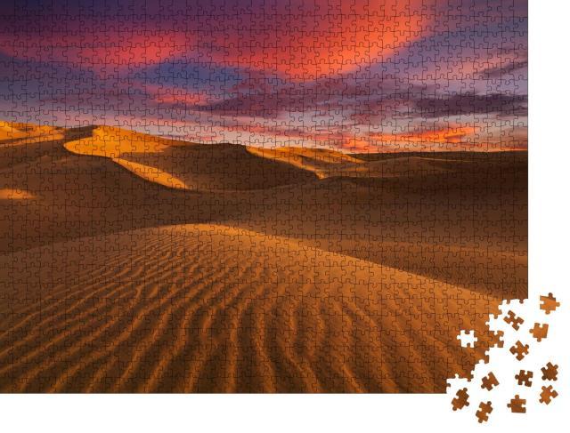 """Puzzle 1000 Teile """"Sanddünen in der Wüste Sahara"""""""