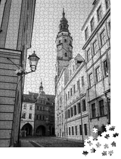 """Puzzle 1000 Teile """"Schonhof, Görlitz, schwarz-weiß"""""""