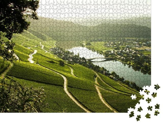 """Puzzle 1000 Teile """"Das Moseltal im Morgenlicht"""""""