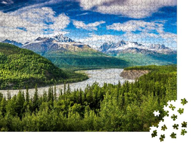 "Puzzle 1000 Teile ""Chugach Gebirge in Alaka"""