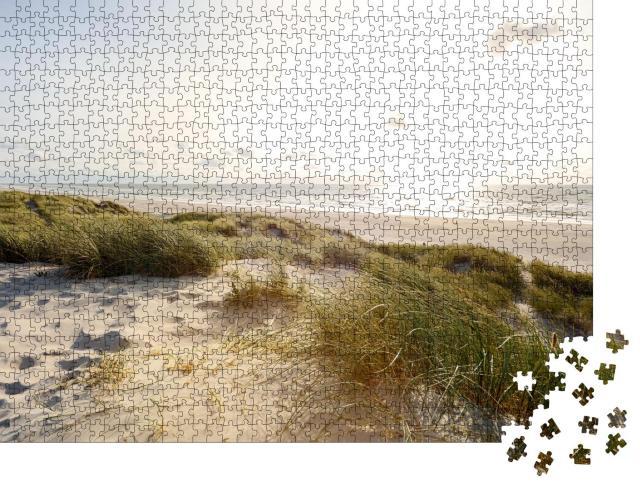 """Puzzle 1000 Teile """"Abendlicher Strand und Sanddünen, Jütland Dänemark"""""""