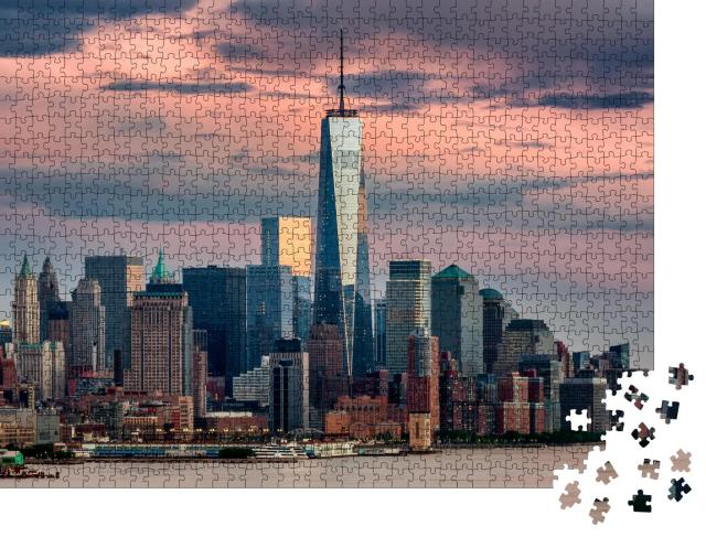 """Puzzle 1000 Teile """"One World Trade Center in New York City, USA"""""""