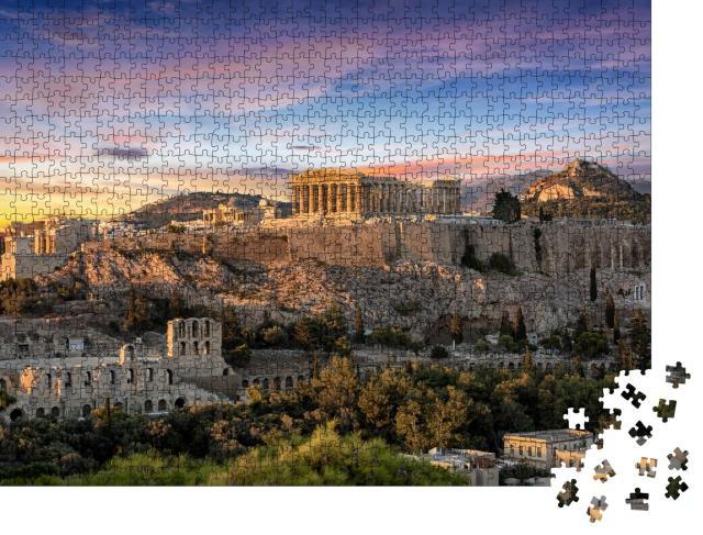 """Puzzle 1000 Teile """"Parthenon-Tempel auf der Akropolis von Athen, Griechenland"""""""