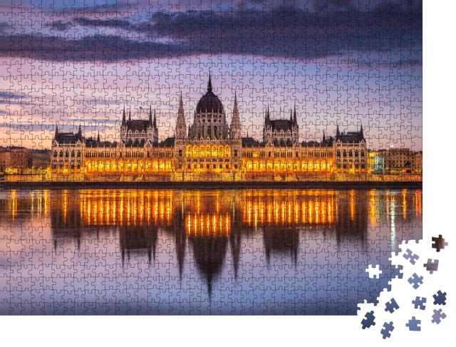 """Puzzle 1000 Teile """"Ungarisches Parlament, Budapest, Ungarn"""""""