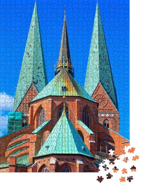 """Puzzle 1000 Teile """"St. Marienkirche, Lübeck, Deutschland"""""""