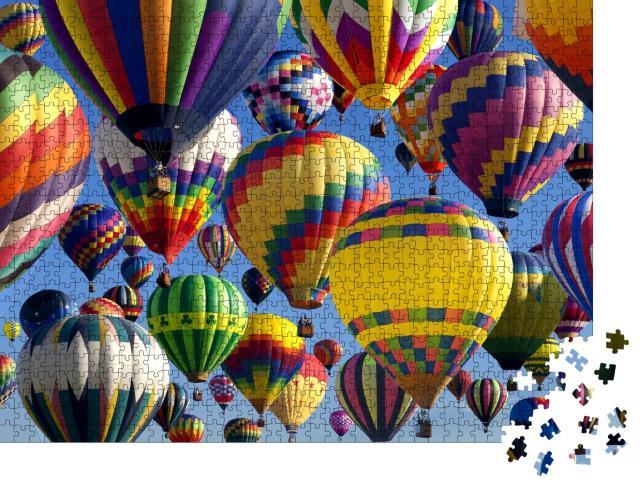 "Puzzle 1000 Teile ""Heißluftballons auf dem New Jersey Ballooning Festival"""