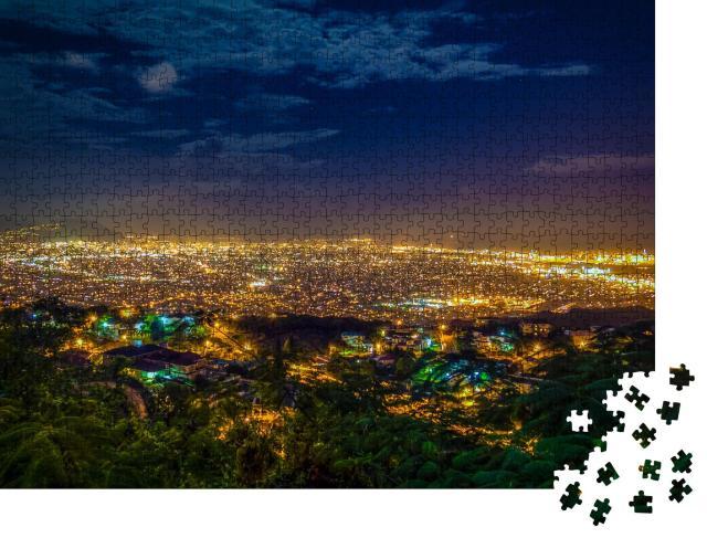 """Puzzle 1000 Teile """"Nachtansicht von Kingston, Jamaika"""""""