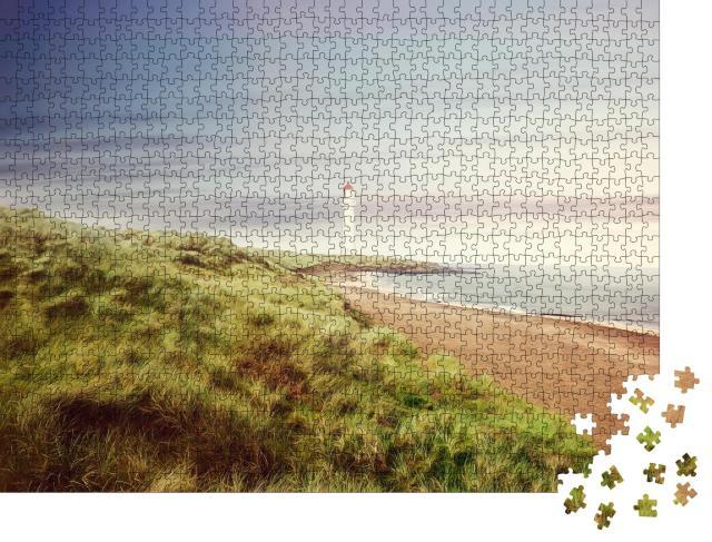 """Puzzle 1000 Teile """"Küstenlandschaft mit Fischern"""""""