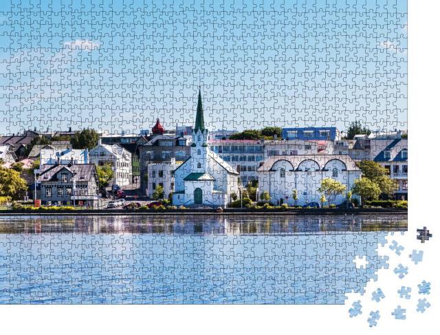 """Puzzle 1000 Teile """"See-Kai im Stadtzentrum von Rejkavik"""""""