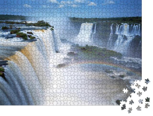 """Puzzle 1000 Teile """"Iguazu-Wasserfälle in Brasilien und Argentinien"""""""