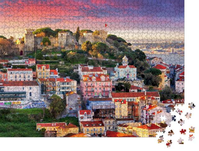 """Puzzle 1000 Teile """"Lissabon, Skyline mit Sao Jorge Castle"""""""