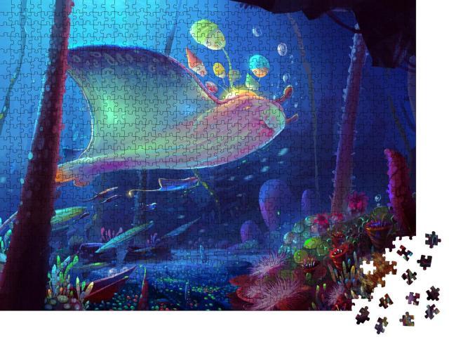 """Puzzle 1000 Teile """"Illustration: Wundervolle Unterwasserwelt"""""""
