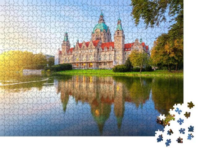 """Puzzle 1000 Teile """"Hannover, Deutschland, Neues Rathaus"""""""