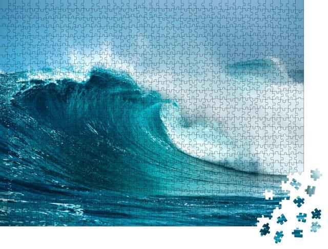 """Puzzle 1000 Teile """"Wellen im Ozean, spritzende Gischt"""""""