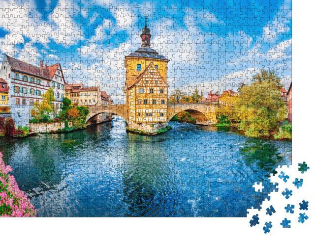 """Puzzle 1000 Teile """"Altstadt von Bamberg mit viel Fachwerk, Bayern, Deutschland"""""""