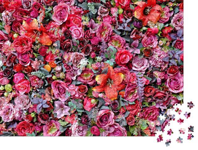 """Puzzle 1000 Teile """"Rosen und Lilien"""""""