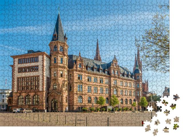 """Puzzle 1000 Teile """"Stadthalle am Marktplatz in Wiesbaden ,Deutschland"""""""