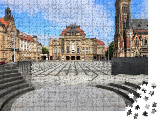 """Puzzle 1000 Teile """"Theaterplatz in Chemnitz, Deutschland"""""""