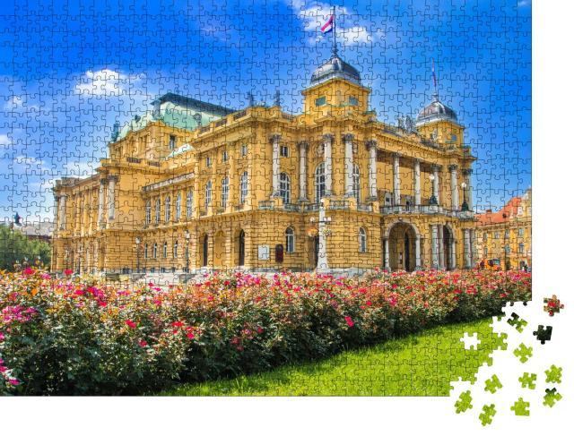 """Puzzle 1000 Teile """"Kroatisches Nationaltheater, Zagreb, Kroatien"""""""