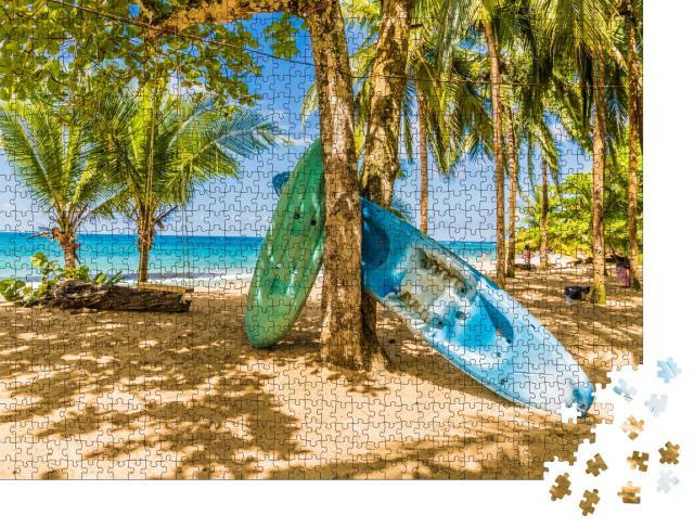 """Puzzle 1000 Teile """"Strand von Punta Uva, Costa Rica"""""""