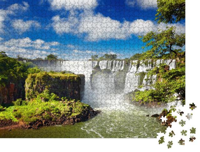 """Puzzle 1000 Teile """" Iguazu-Wasserfälle an der brasilianischen und argentinischen Grenze"""""""