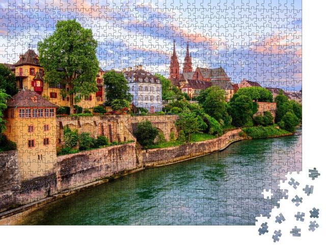 """Puzzle 1000 Teile """"Die Altstadt von Basel, Schweiz"""""""