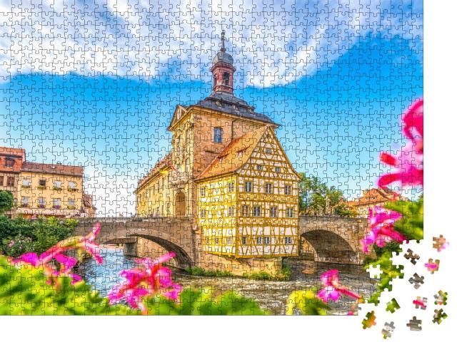 """Puzzle 1000 Teile """"Großartiger Blick auf das Rathaus von Bamberg, Deutschland"""""""