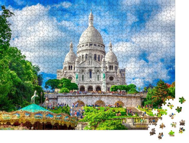 """Puzzle 1000 Teile """"Wunderschöne Basilika Sacre Coeur, Montmartre, Paris"""""""