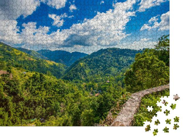 """Puzzle 1000 Teile """"Kaffeeplantagen und Blaue Berge von Jamaika"""""""