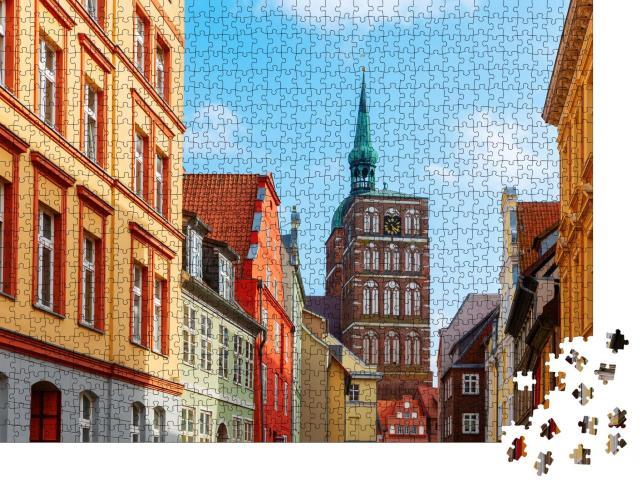"""Puzzle 1000 Teile """"Stadtbild der Hansestadt Stralsund, Deutschland"""""""
