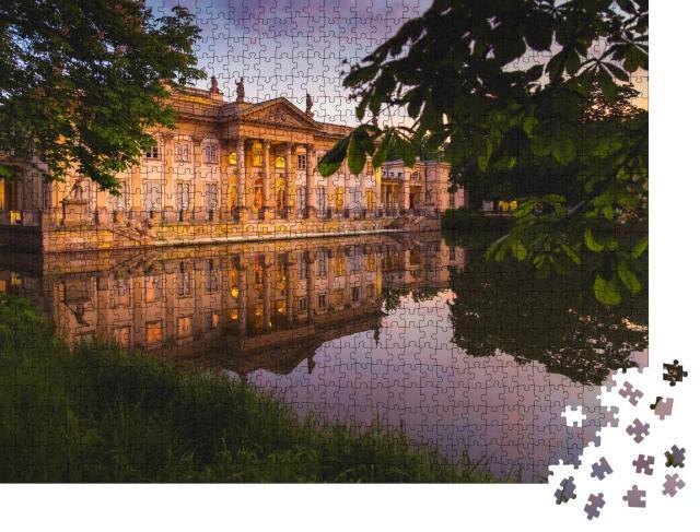 """Puzzle 1000 Teile """"Königlicher Palast auf dem Wasser in Warschau, Lazienki Park, Polen"""""""