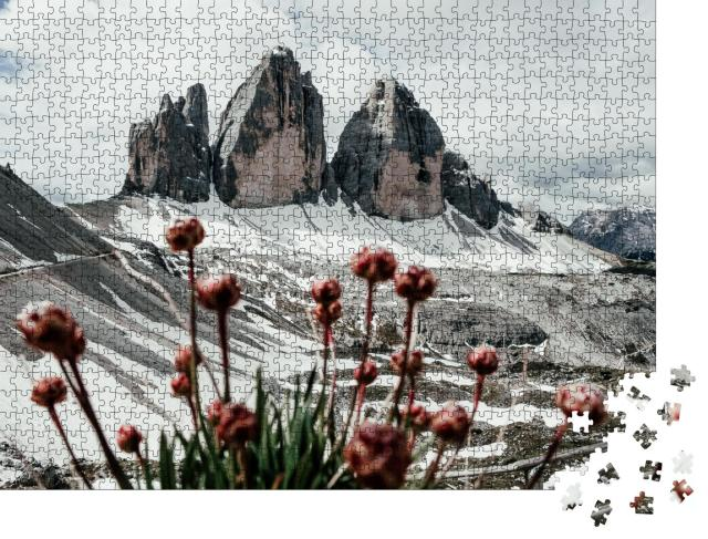 """Puzzle 1000 Teile """"Die drei Zinnen in Italien, Dolomiten"""""""