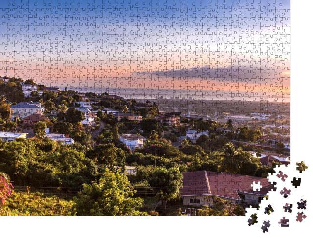 "Puzzle 1000 Teile ""Die Hügel von Kingston, Jamaika"""