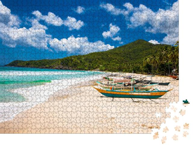 """Puzzle 1000 Teile """"Traditionelle Boote, Insel Palawan, Philippinen"""""""