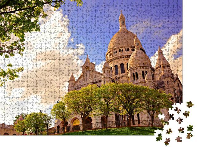 """Puzzle 1000 Teile """"Berühmte Kirche Sacre Coeur, Paris, Frankreich"""""""