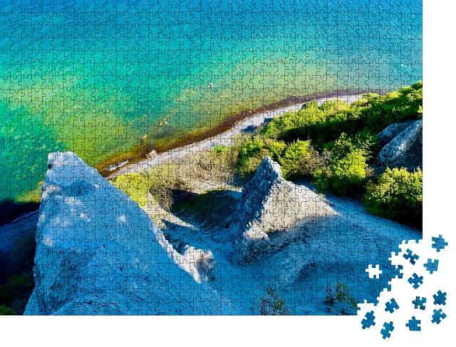 """Puzzle 1000 Teile """"Weiße Felsen im Nationalpark Jasmund auf Rügen"""""""