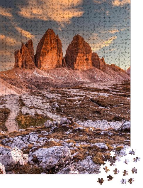 """Puzzle 1000 Teile """"Die Drei Zinnen am Abend, Südtirol, Italien"""""""